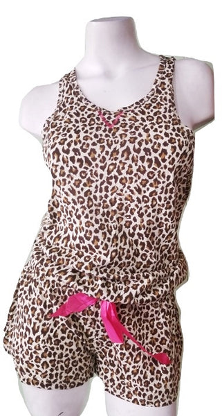Flirty Romper with Leopard Print