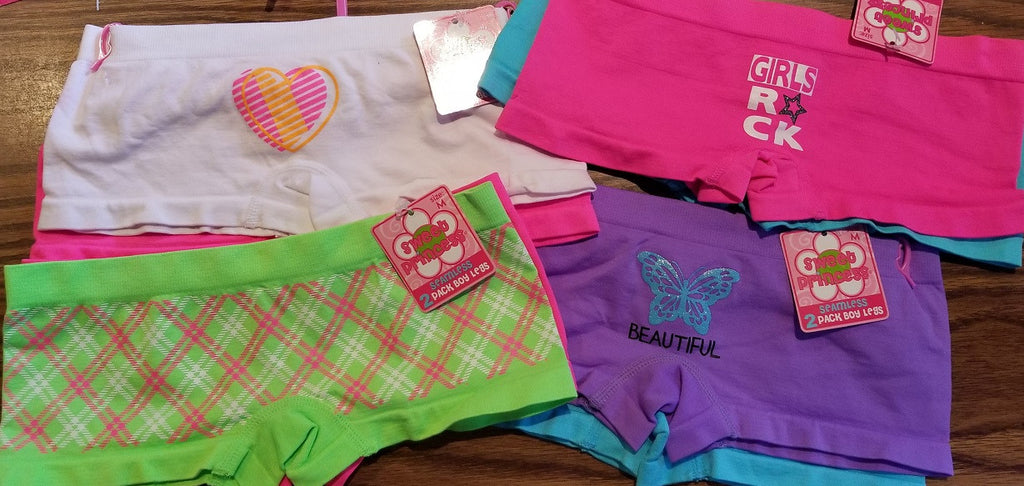 Kids' 2Pack Boyshort with Cute Graphic