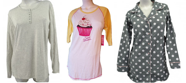 Wholesale Pajama Winter Tops - 24 Assorted Pieces