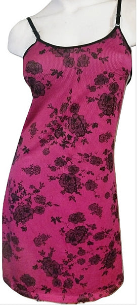 Slip-on Nighties  - Hot Pink with Lace Print