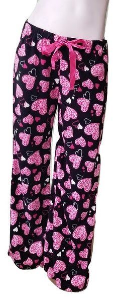 Soft Fleece PJ Pants - Animal Hearts