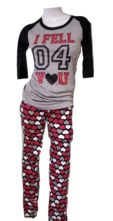 Sporty Hearts Pajama Set