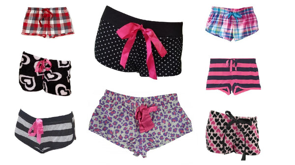 Wholesale Pajama Short Bottoms 24 Assorted Pieces