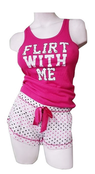Pajama Shorts Bottom Set - Flirt with Me