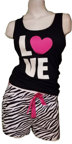 100% Cotton PJ Short Bottom Set - Zebra