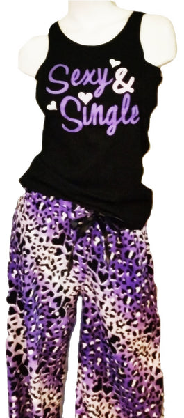 Purple Leopard Fleece PJ Set - Plus-Size