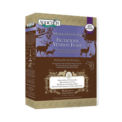 ADDICTION Fig'Licious Venison Feast for Dogs