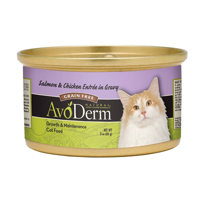 AVODERM Natural® Grain-Free Salmon & Chicken Entree in Gravy for Cats
