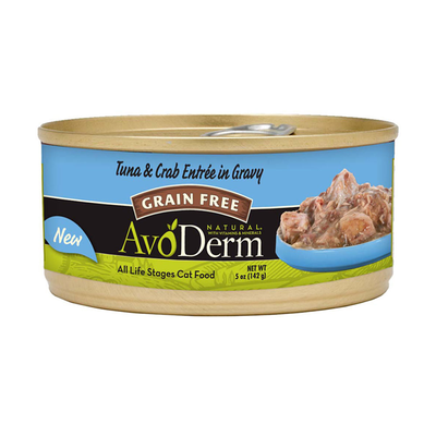 AVODERM Natural® Grain-Free Tuna & Crab Entree in Gravy for Cats