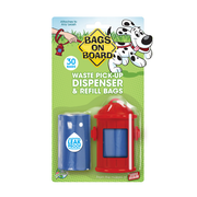 BAGS ON BOARD® Fire Hydrant Dispenser with Refill Bags