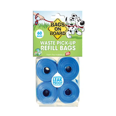 BAGS ON BOARD® Waste Pick Up Refill Bags - Blue