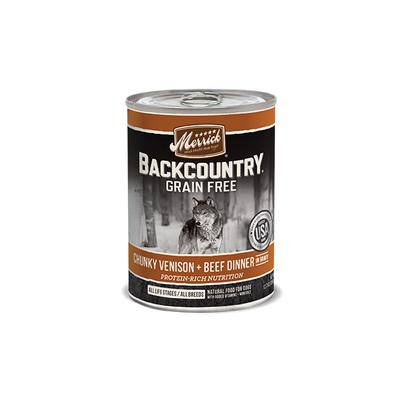MERRICK® Backcountry™ Chunky Venison + Beef Dinner in Gravy for Dogs