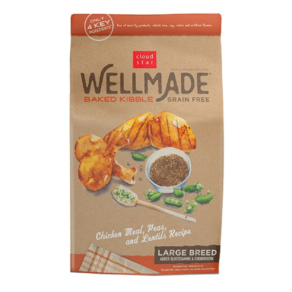 CLOUD STAR® WellMade™ Grain-Free Baked Chicken Meal, Peas & Lentils Kibble for Large Breed Dogs