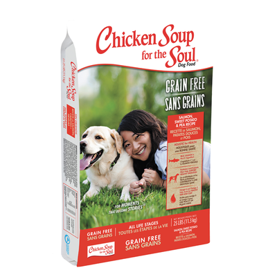 CHICKEN SOUP FOR THE SOUL® Grain Free Salmon, Sweet Potato & Pea Recipe for Dogs