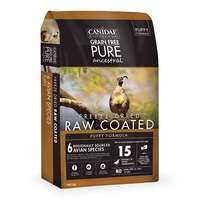 CANIDAE® Grain Free PURE Ancestral™ Raw Coated Avian Formula with Quail, Chicken & Turkey for Puppies