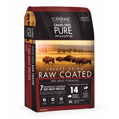 CANIDAE® Grain Free PURE Ancestral™ Raw Coated Red Meat Formula with Lamb, Goat, & Wild Boar for Dogs