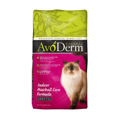 AVODERM Natural® Indoor Hairball Care Formula for Cats