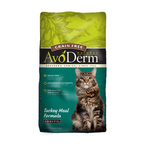 AVODERM Natural® Grain-Free Turkey Meal Formula for Cats