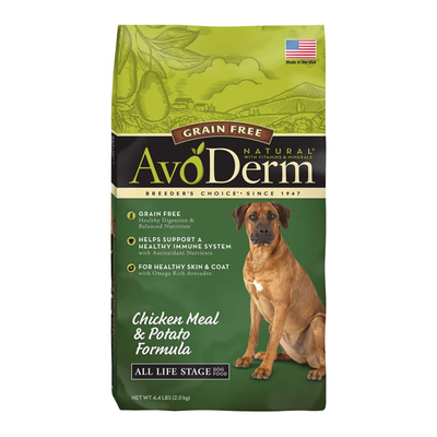 AVODERM Natural® Grain-Free Chicken Meal & Potato Formula for Dogs