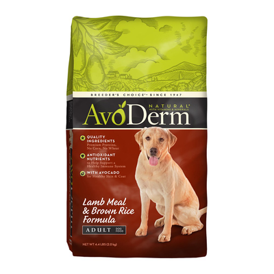 AVODERM Natural® Lamb Meal & Brown Rice Formula for Dogs