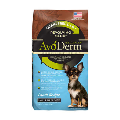 AVODERM Natural® Revolving Menu® Lamb Recipe – Small Breed Dogs