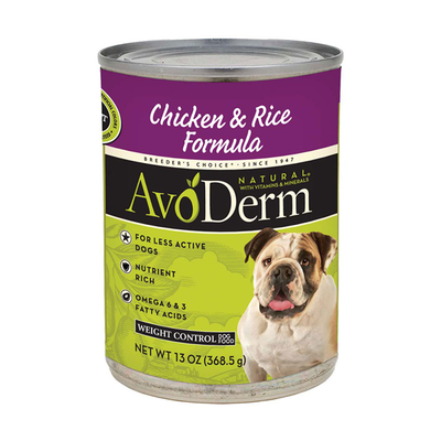 AVODERM Natural® Weight Control Chicken & Rice Formula for Dogs