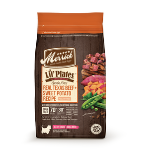 MERRICK® Lil' Plates™ Grain Free Real Texas Beef + Sweet Potato Recipe for Small Breed Dogs