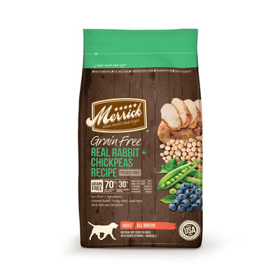 MERRICK® Grain Free Real Rabbit + Chickpeas Recipe for Dogs