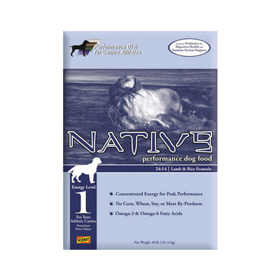 NATIVE® Performance Energy Level 1 - Lamb Meal & Rice Formula for Dogs