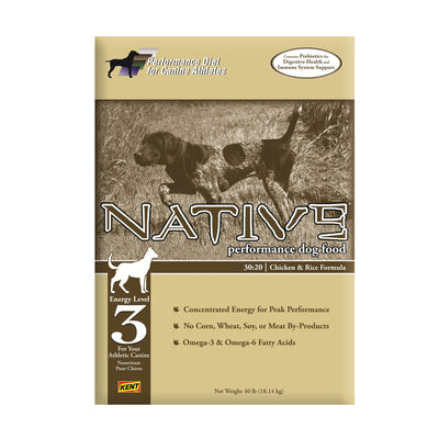 NATIVE® Performance Energy Level 3 - Chicken Meal & Rice Formula for Dogs