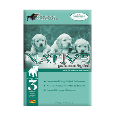 NATIVE® Performance Energy Level 3 - Chicken Meal & Rice Formula for Puppies