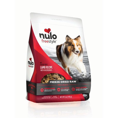 NULO™ Freestyle™ Grain-Free Freeze-Dried Raw Lamb Recipe with Raspberries for Dogs