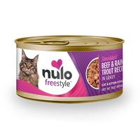 NULO™ Freestyle™ Grain-Free Shredded Beef & Rainbow Trout Recipe for Cats