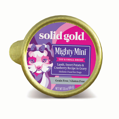 SOLID GOLD® Mighty Mini™ Lamb, Sweet Potato & Cranberry Recipe in Gravy for Dogs