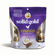 SOLID GOLD® Superfoods Chewy Dog Treats with Chicken, Coconut Milk & Chia Seed