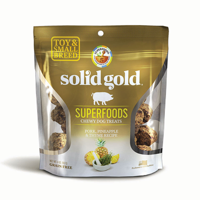 SOLID GOLD® Superfoods Chewy Dog Treats with Pork, Pineapple & Thyme