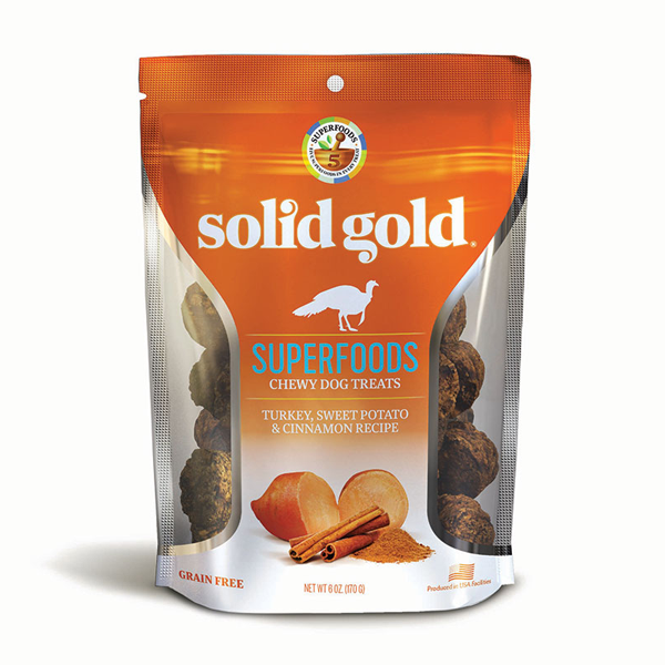 SOLID GOLD® Superfoods Chewy Dog Treats with Turkey, Sweet Potato & Cinnamon