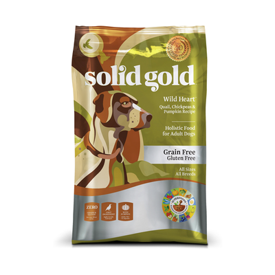 SOLID GOLD® Wild Heart™ Quail, Chickpeas & Pumpkin Recipe for Dogs