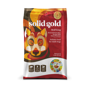 SOLID GOLD® Wolf King® Bison & Brown Rice Recipe with Sweet Potatoes for Dogs