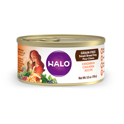 HALO® Grain Free Chicken & Chickpea Recipe for Small Breed Dogs
