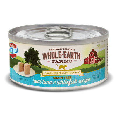 WHOLE EARTH FARMS™ Grain Free Real Tuna & Whitefish Recipe Pate for Cats