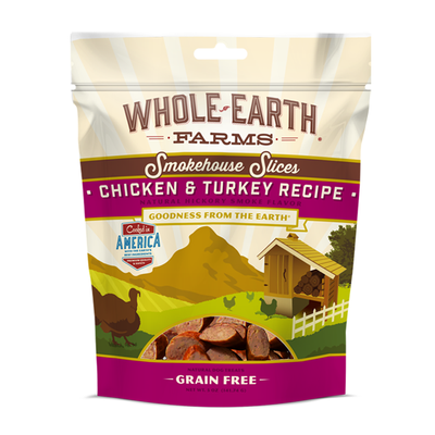 WHOLE EARTH FARMS™ Smokehouse Slices Chicken & Turkey Recipe for Dogs