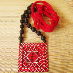 Tribal Worli Wood Necklace