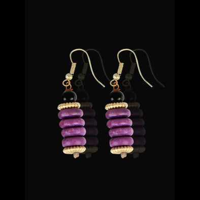 Violet Forest Seeds, Earrings