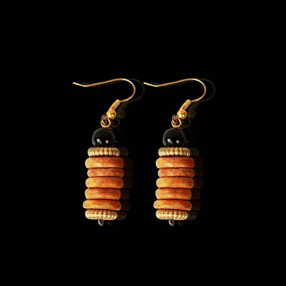 Yellow Ochre Forest Seeds, Earrings
