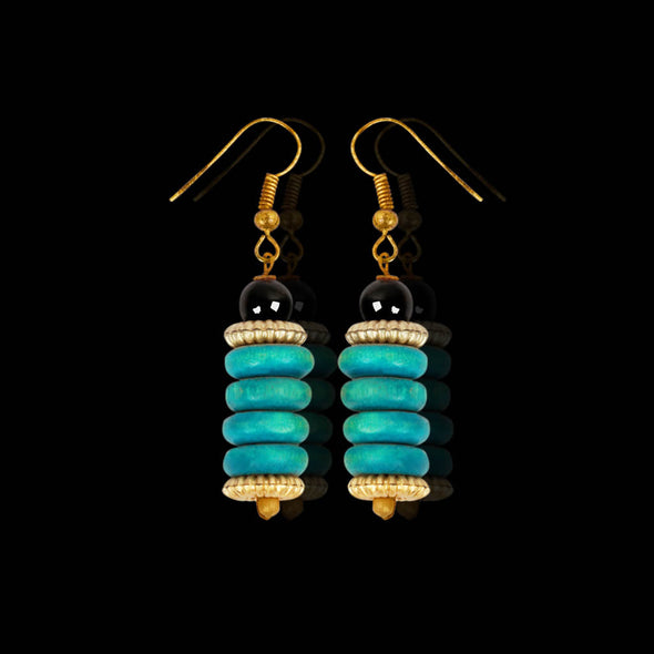 Aqua Forest Seeds, Earrings