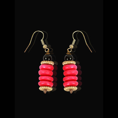 Pink Forest Seeds, Earrings