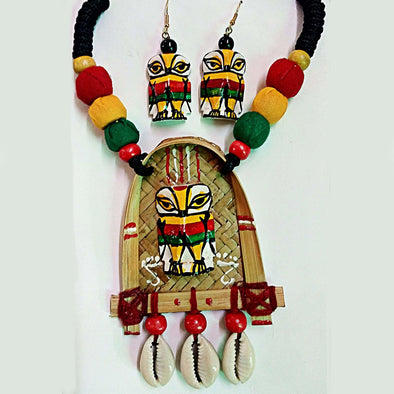 Owl On Thresher 3 Necklace Set