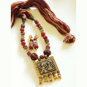 Antique Rudraksh Necklace Set