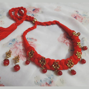 Red Floral Chique Necklace